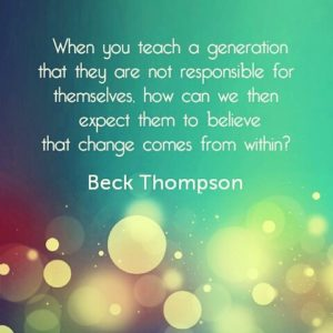 Teach children to be responsible