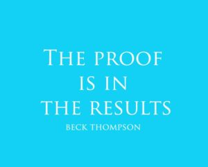 positive thinking..the proof is in the results